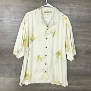 Tommy Bahama Men's Silk Floral Button Down Shirt